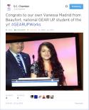 SC Chamber Tweet - Vanessa Madrid