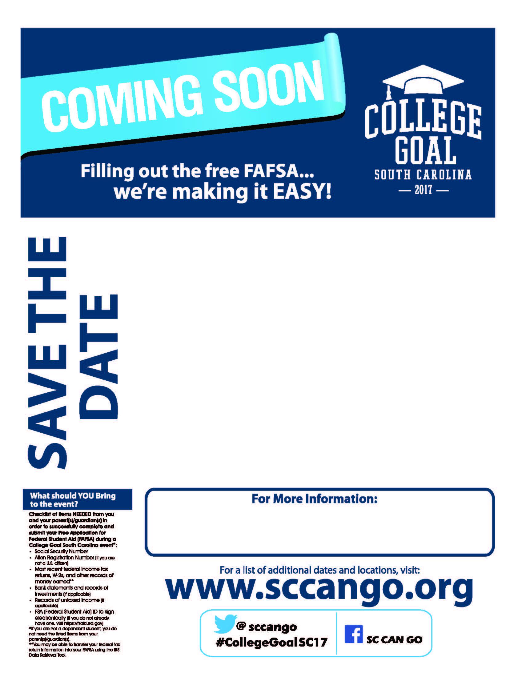 sccango  u00bb hosting a college goal sc event